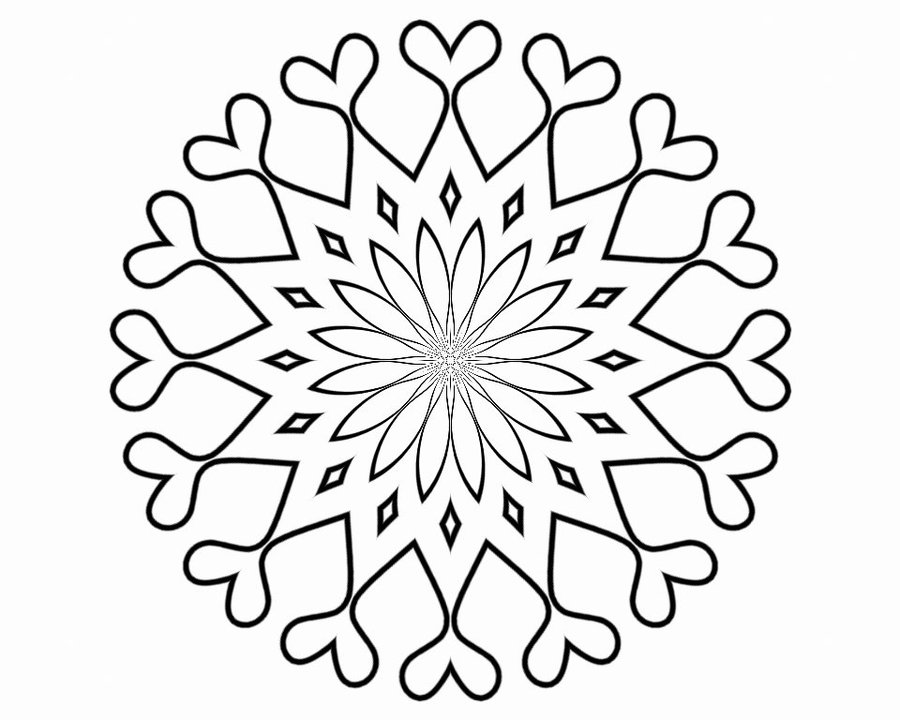fancy mandala coloring pages - photo#34