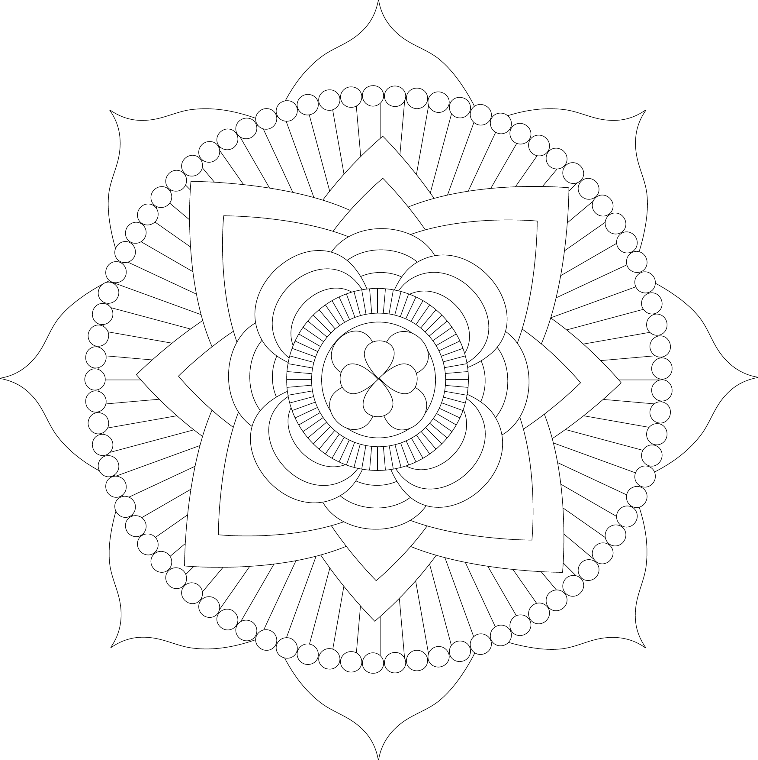 It's just an image of Witty Printable Mandala Coloring