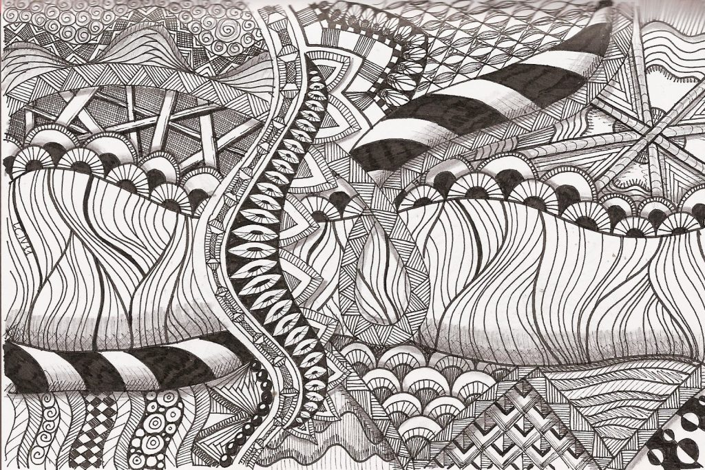 Remarkable image pertaining to free printable zentangles