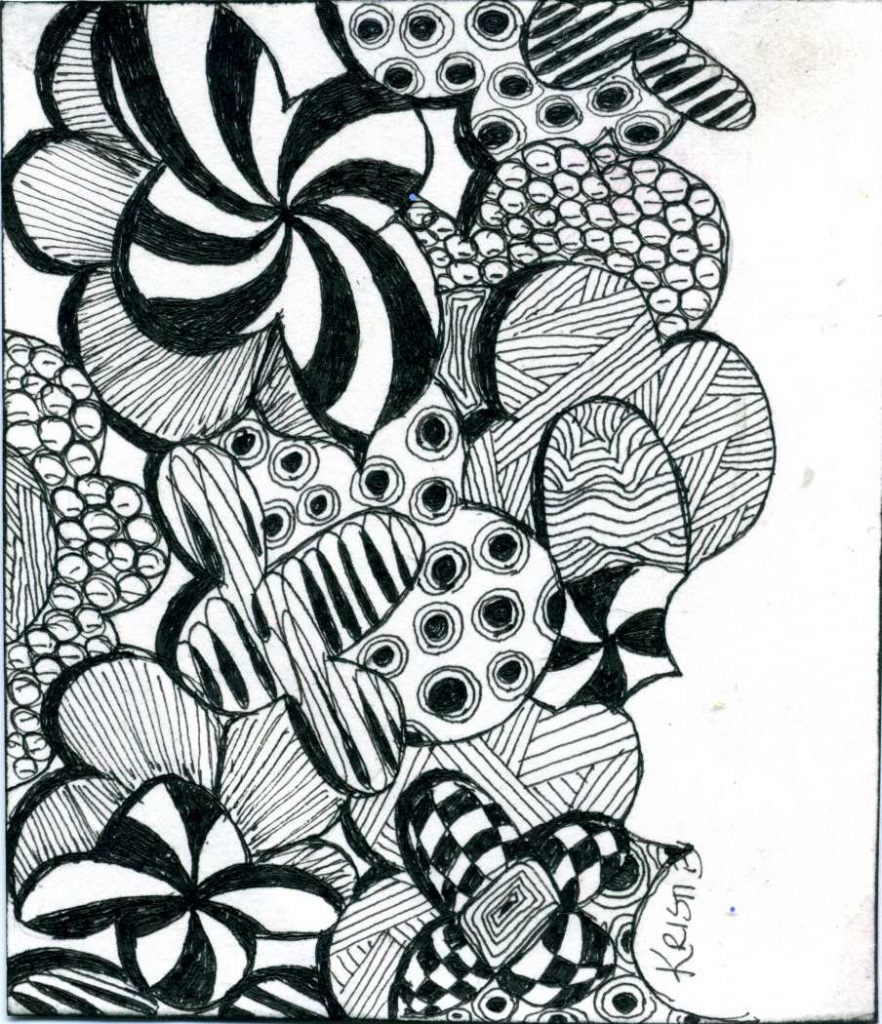 zentangle colouring pages