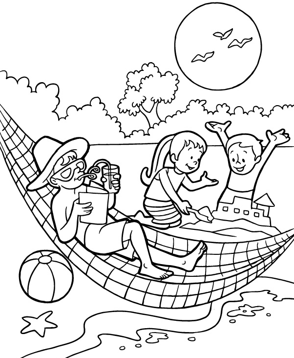 Fun in Summer Coloring Page