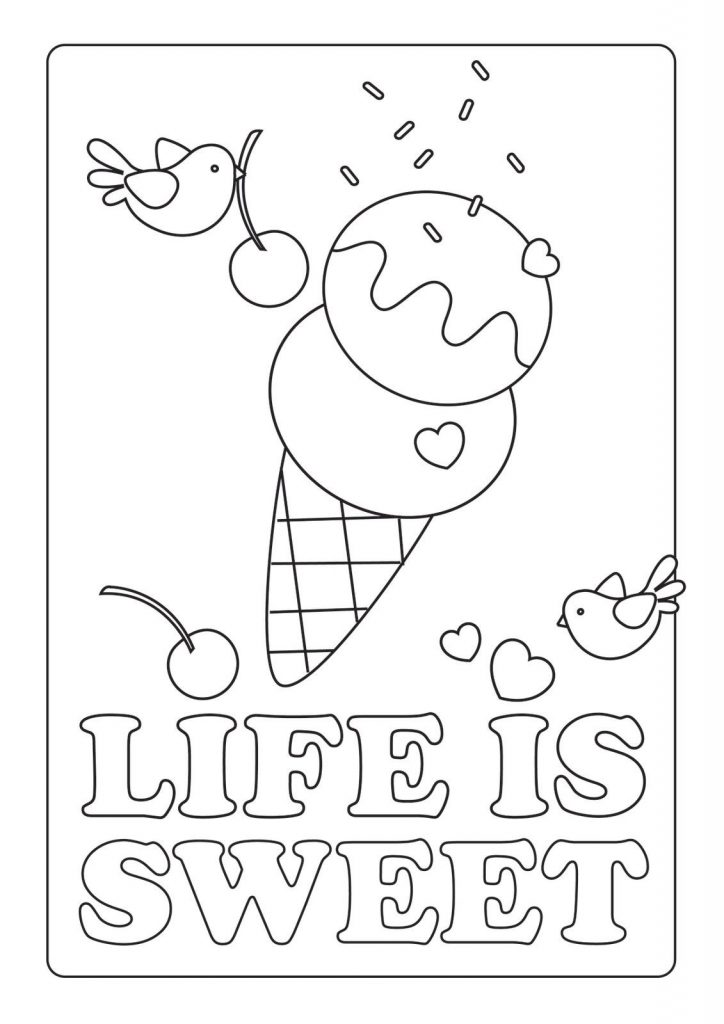 Life is Sweet Coloring Page