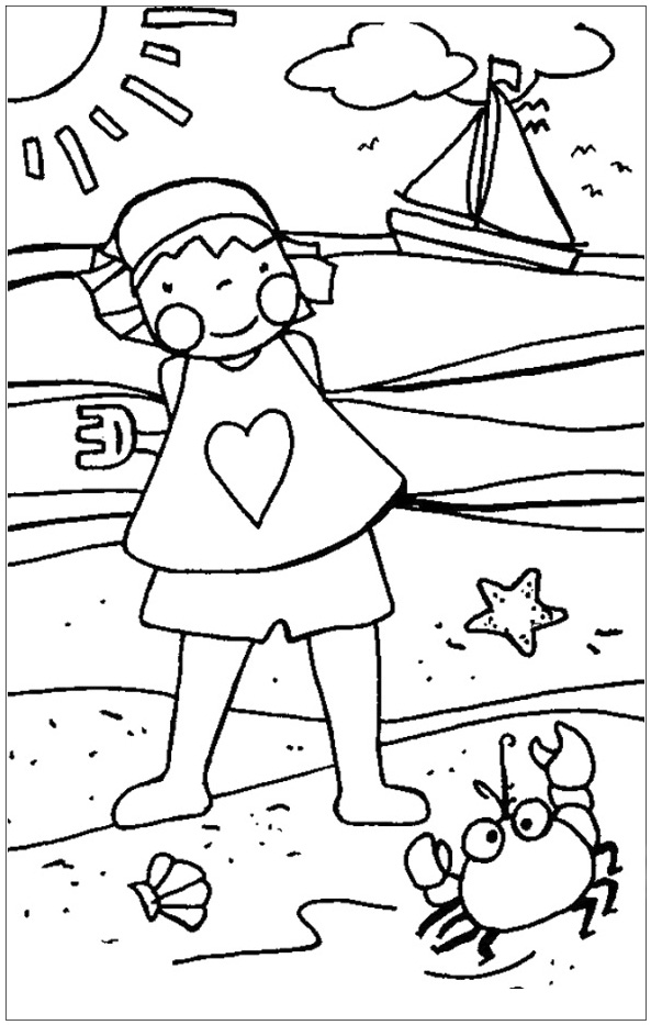 Summer Beach Coloring age