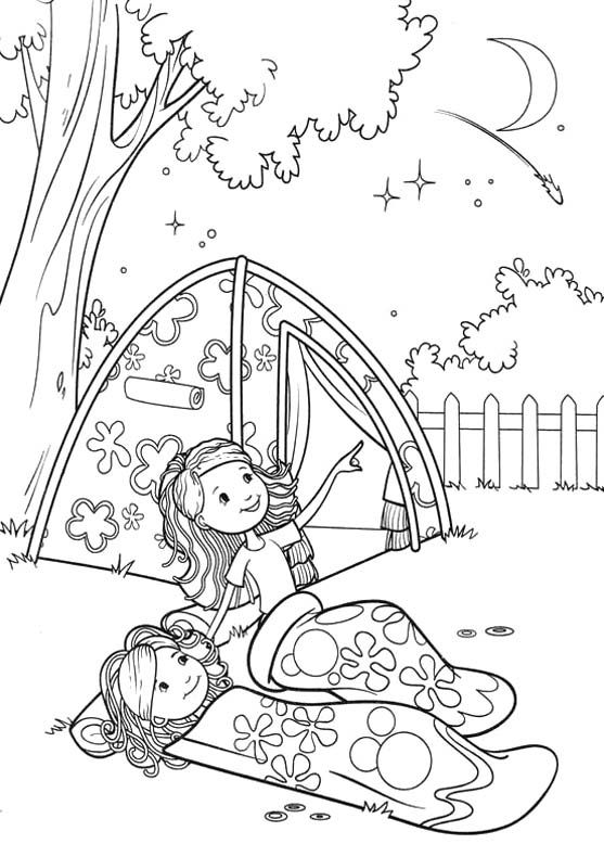 Summer Camping Coloring Page
