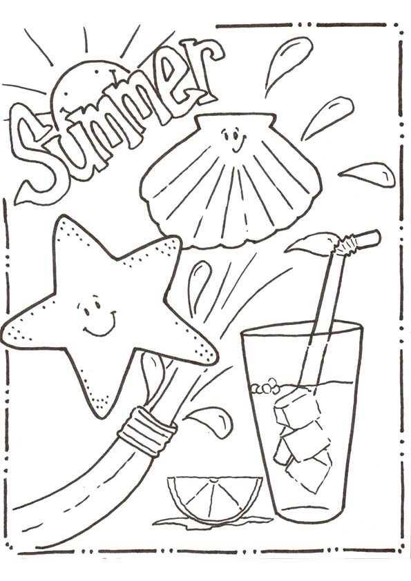 Summer Colouring Pages To Print