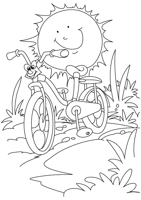 Summer coloring pages with ice cream for kids, seasons coloring ... | 842x595