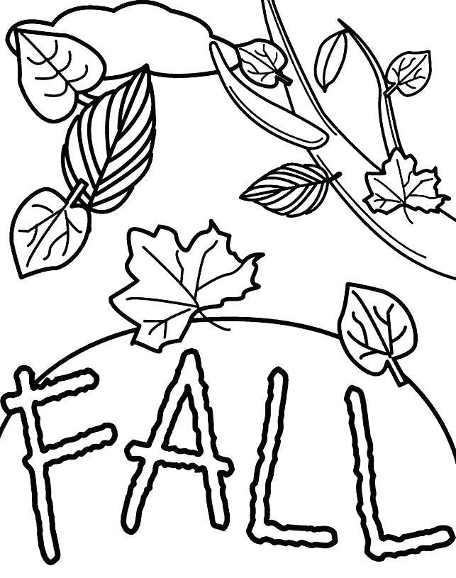 Fall Coloring Printable