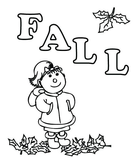 Fall Printable Coloring Worksheet