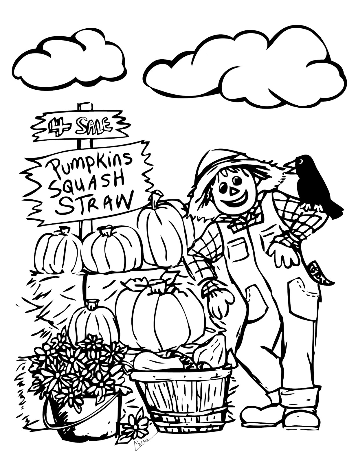 Vibrant image intended for fall coloring pages free printable