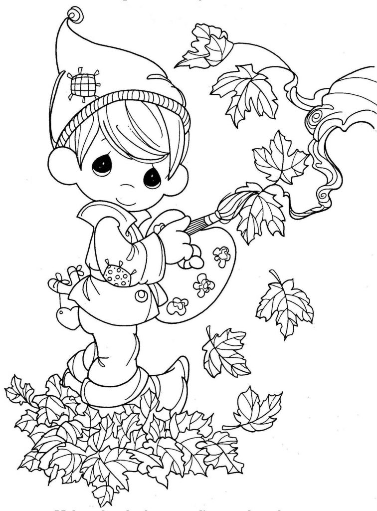 autumn children coloring pages - photo#36