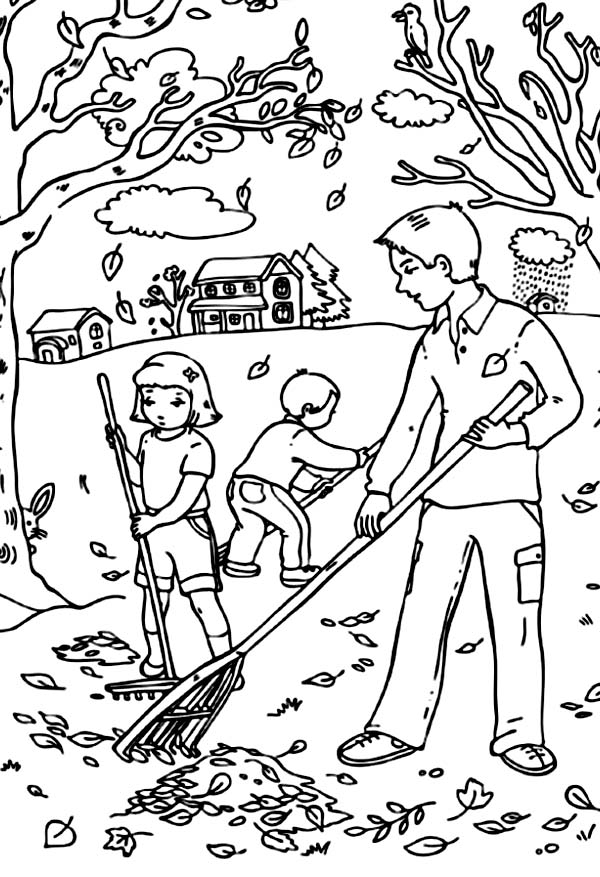autumn children coloring pages - photo#37