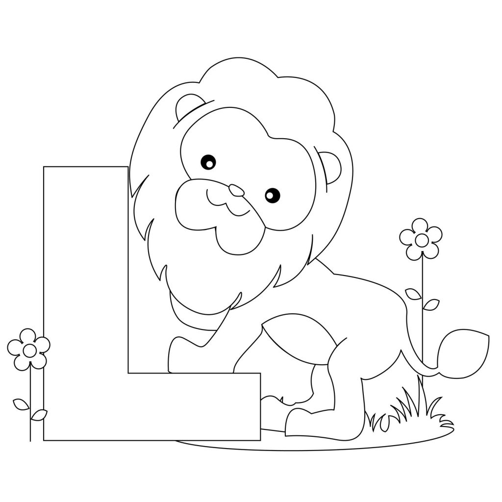 alphabet coloring pages - Letter L