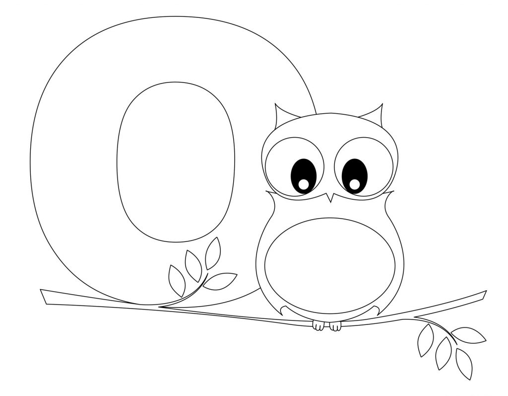 alphabet coloring pages - Letter O