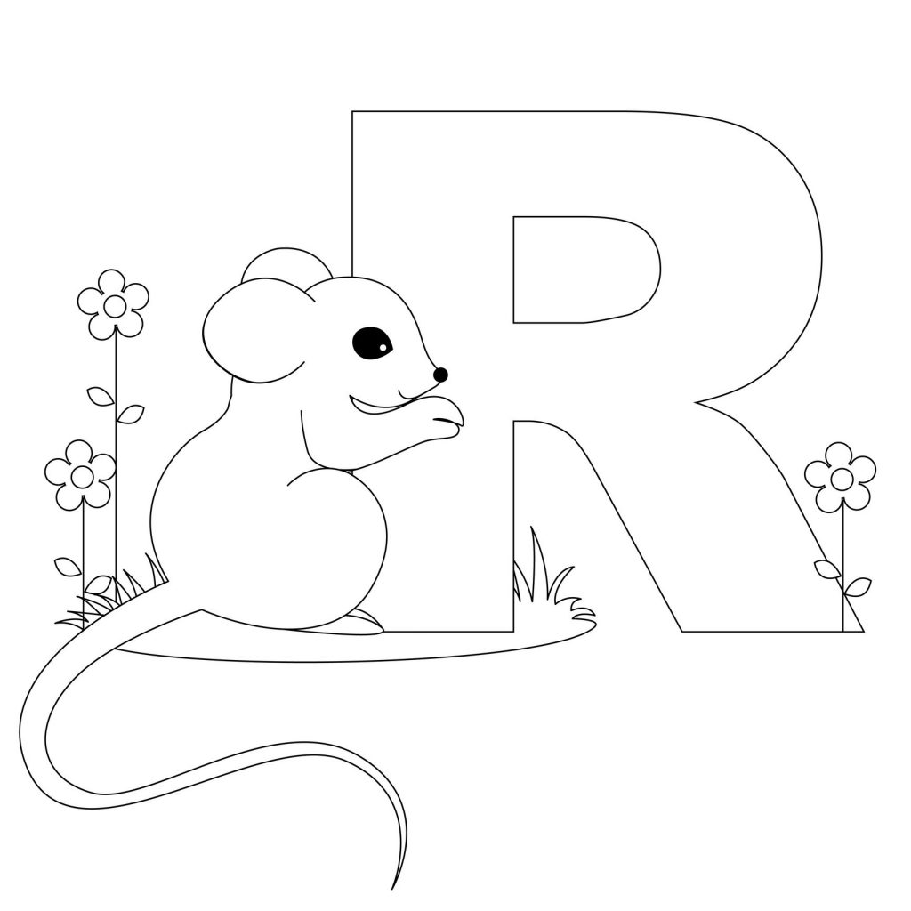 alphabet coloring pages - Letter R