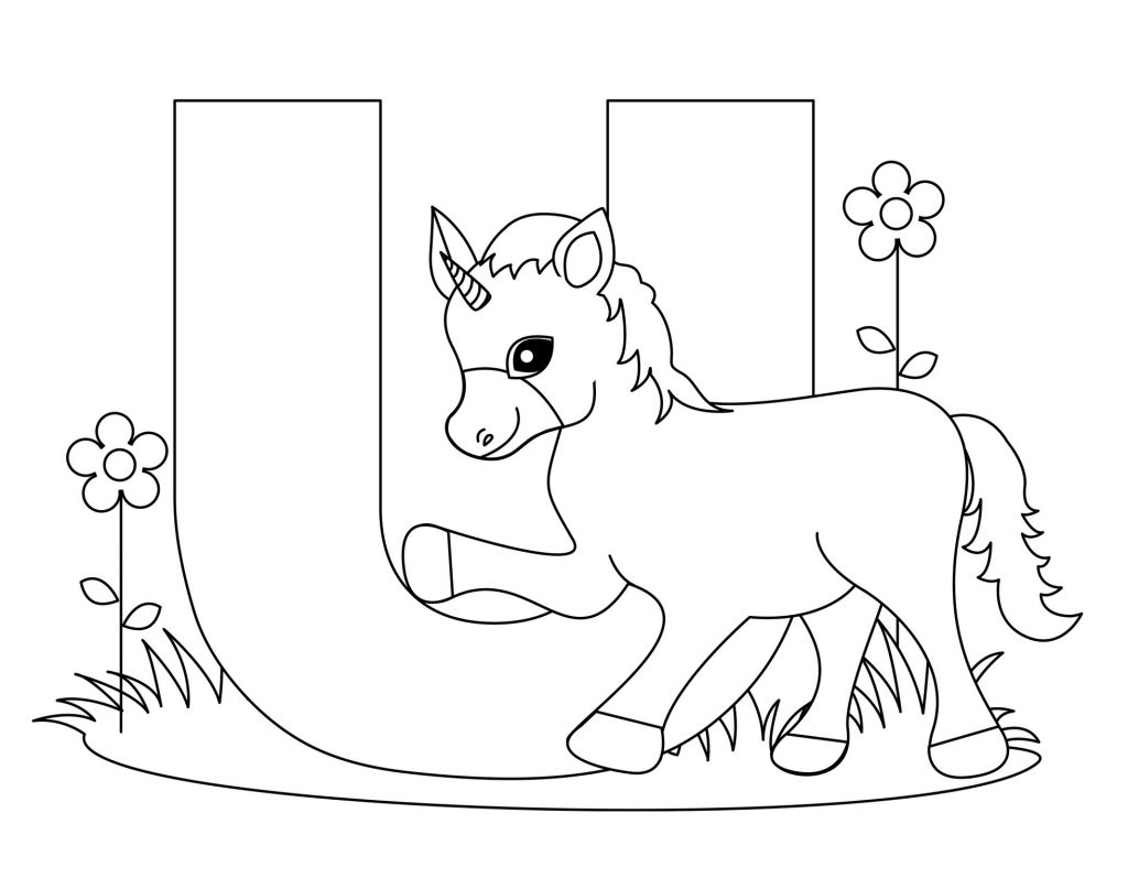 alphabet coloring pages - Letter U
