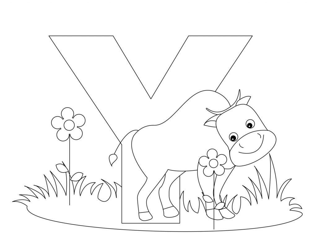 alphabet coloring pages - Letter Y