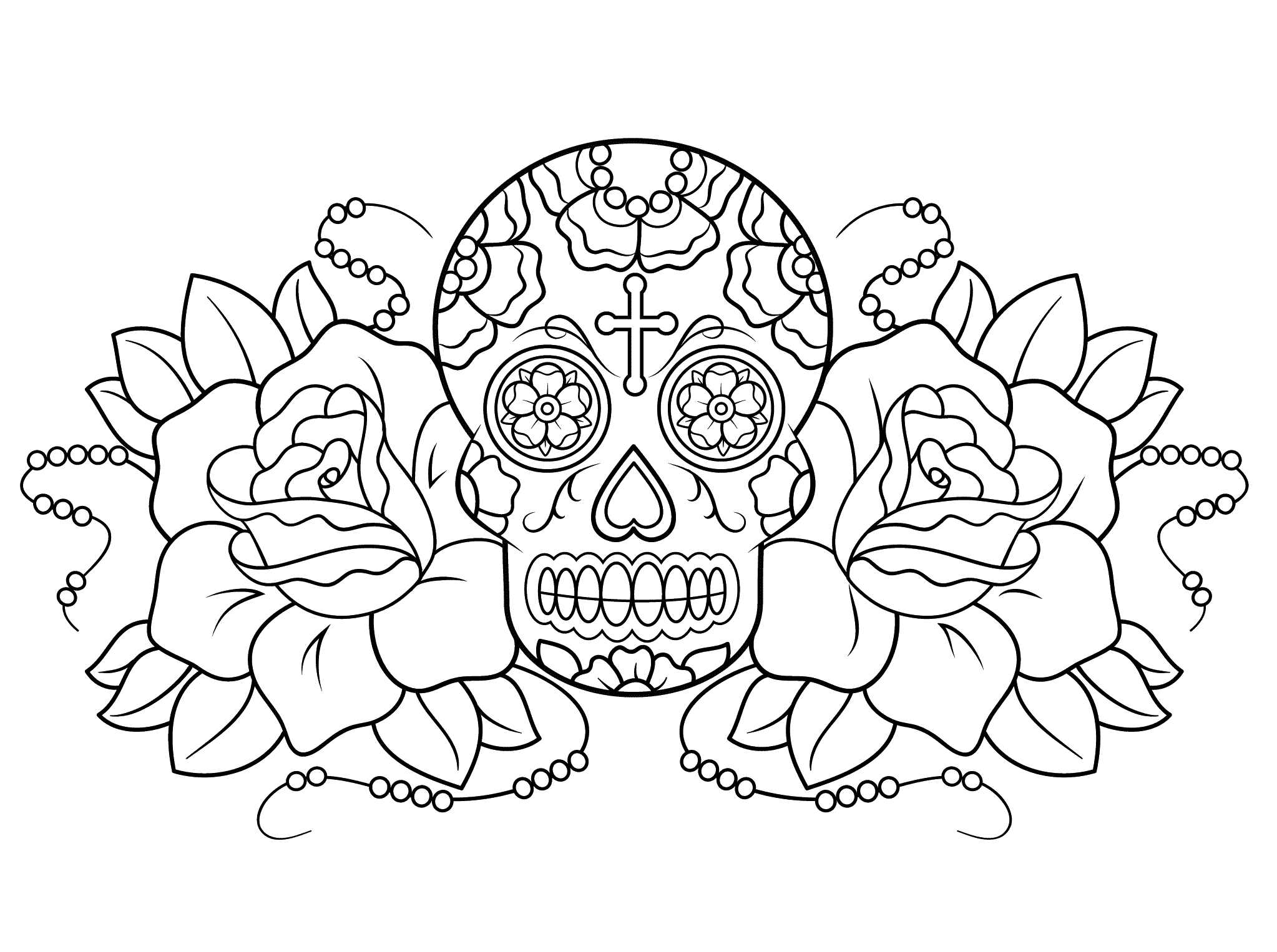 day of the dead coloring art