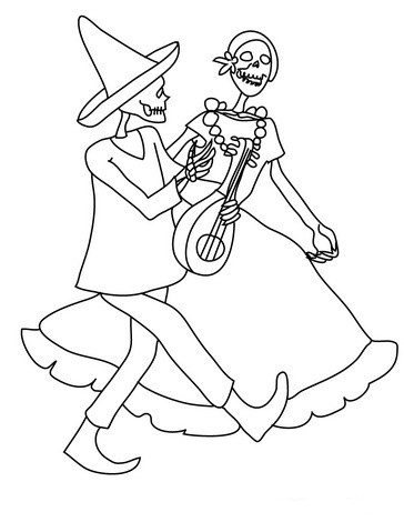 day of the dead coloring images
