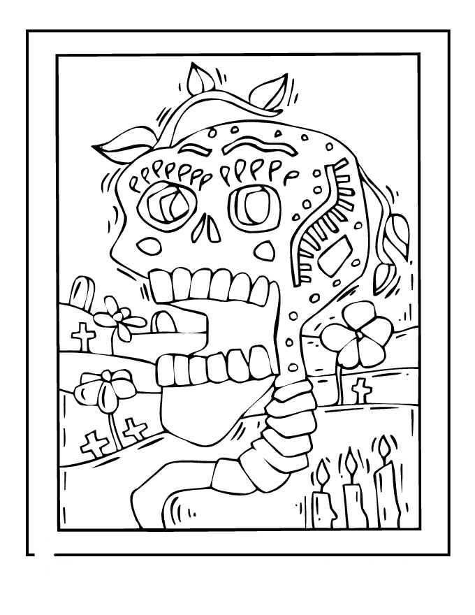 day of the dead coloring pages images