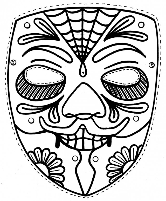 day of the dead coloring pages pictures