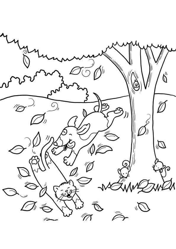 autumn children coloring pages - photo#18