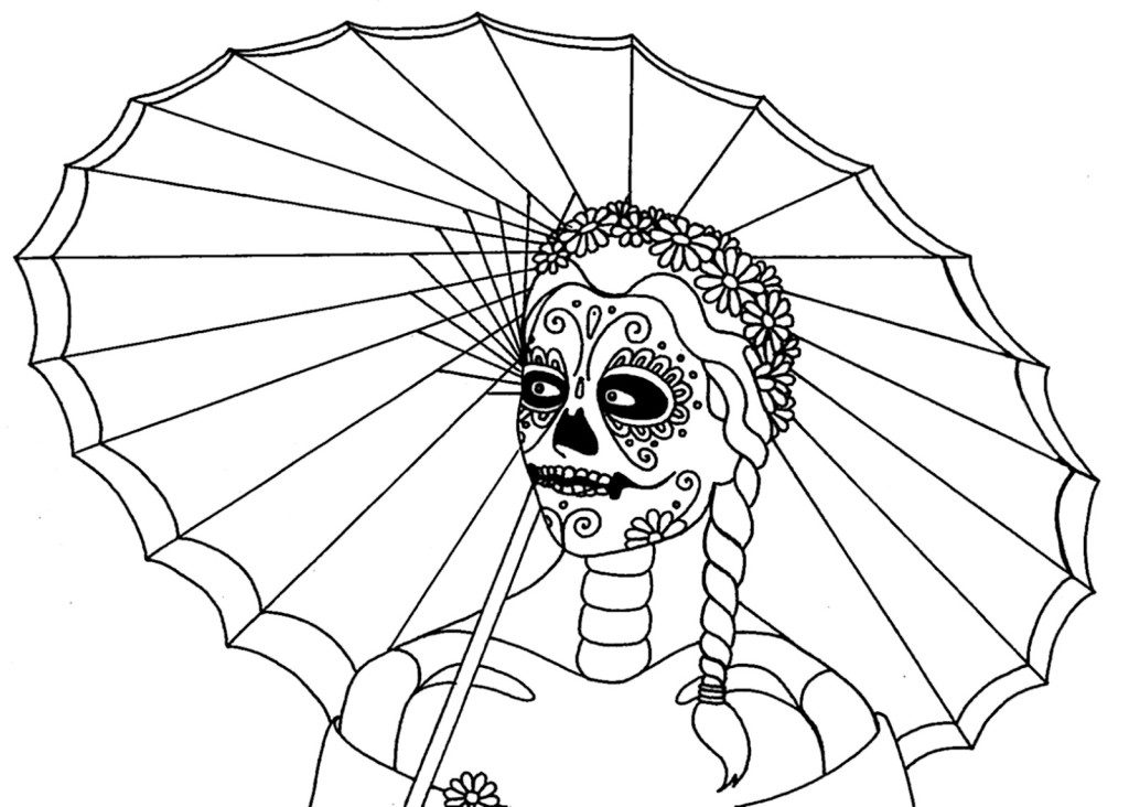 Coloring: Free Printable Day Of The Dead Coloring Pages