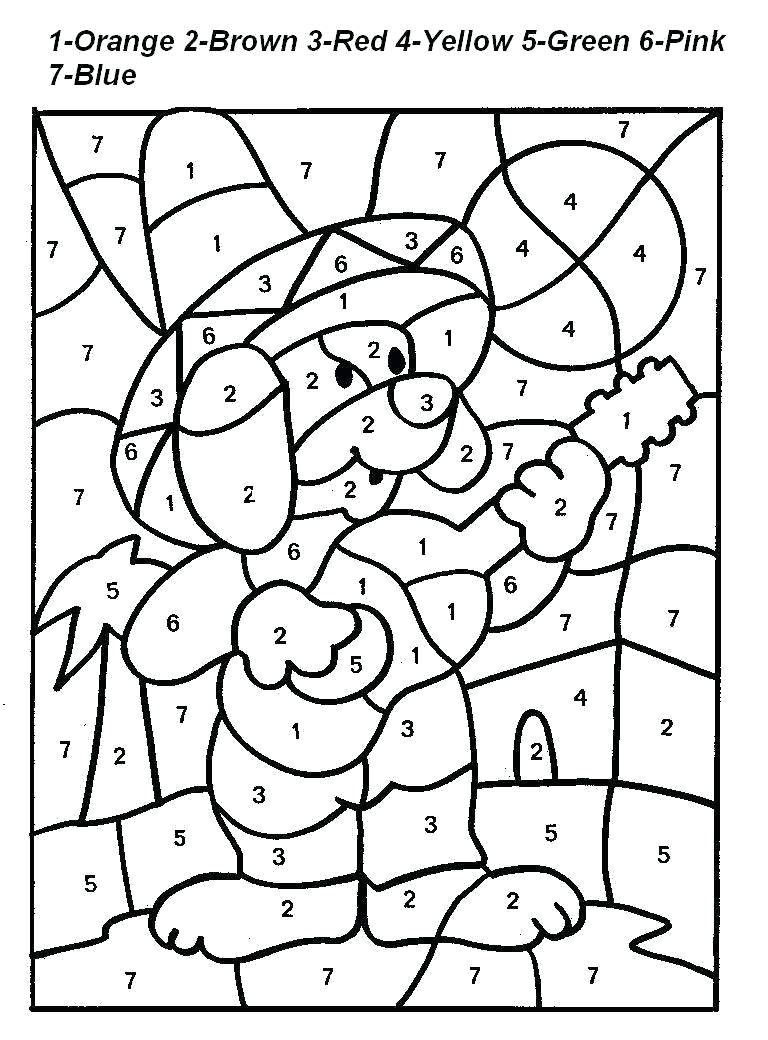 graphic about Printable Number Coloring Pages identify Cost-free Printable Shade by means of Variety Coloring Web pages - Easiest