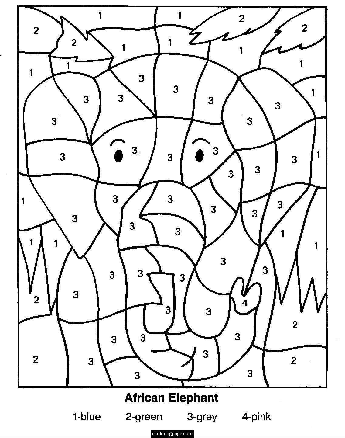 Free Printable Color by Number Coloring Pages - Best Coloring ...