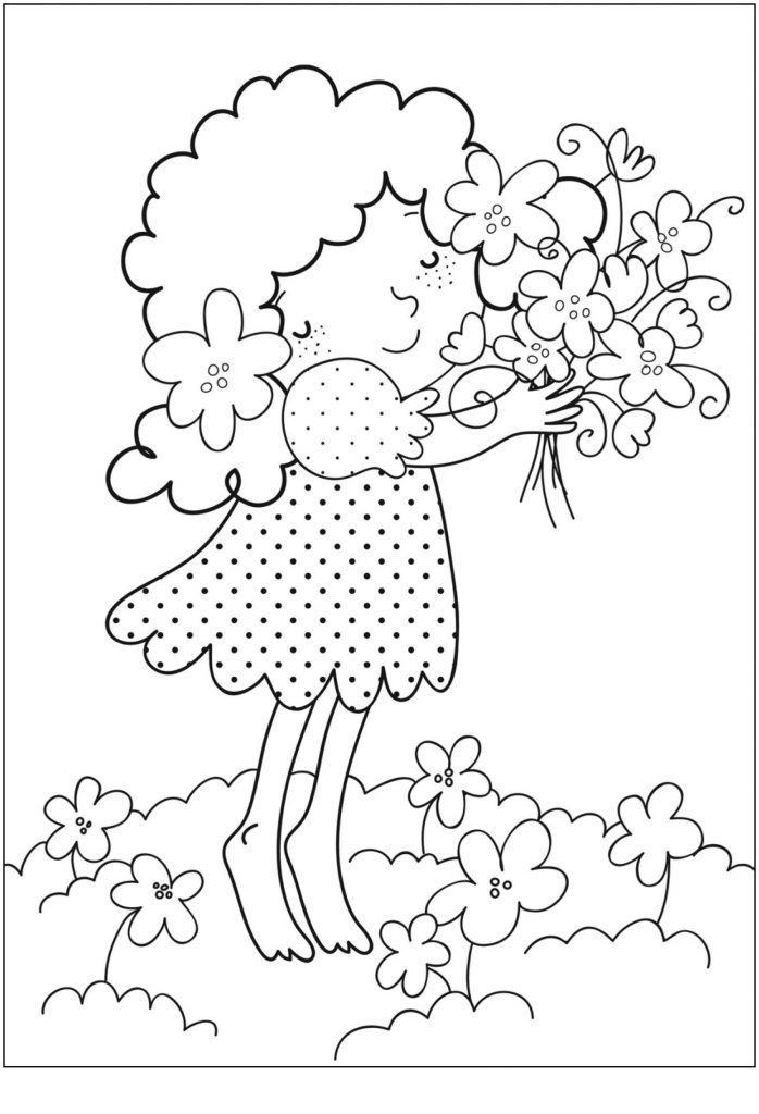 free printable kid coloring pages | Free Printable Flower Coloring Pages For Kids - Best ...