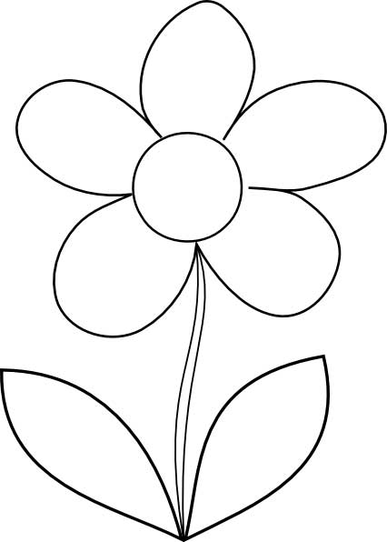 flower coloring page for kids