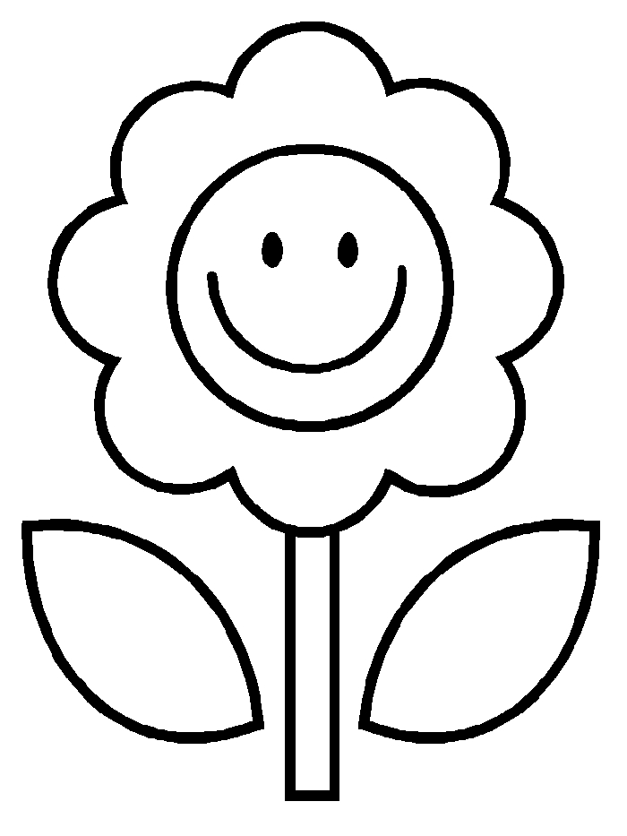 flower coloring pages kids - photo#3
