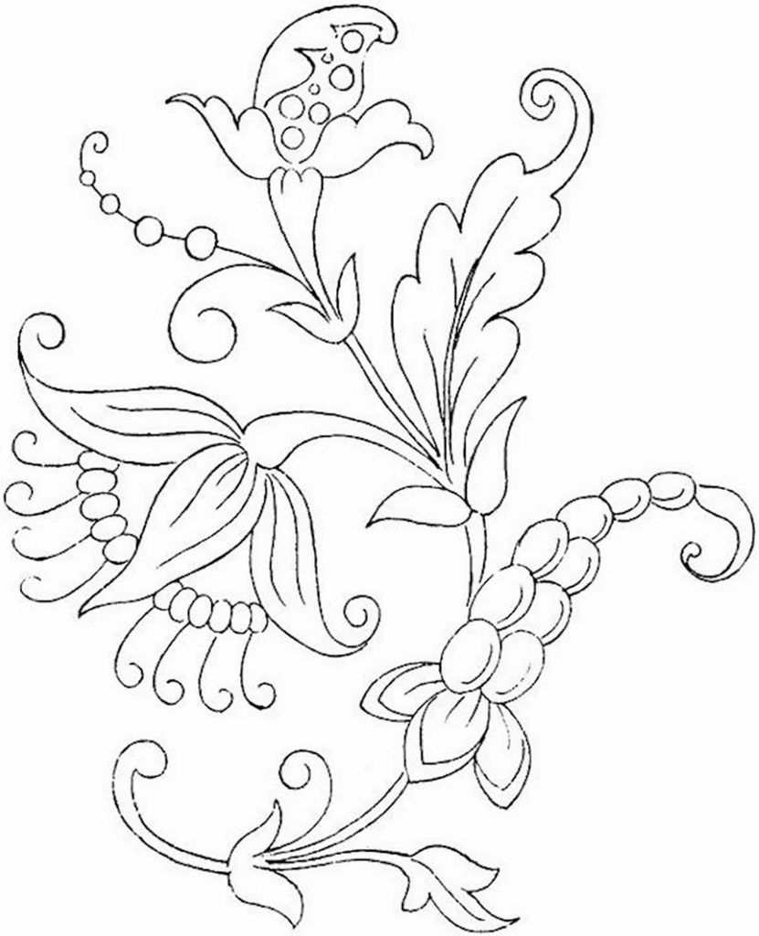 flower print for coloring
