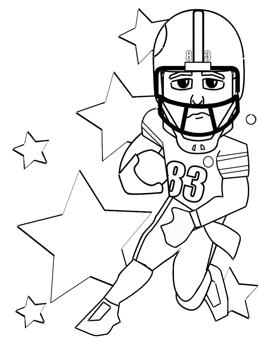 Punchy image for free printable football coloring pages