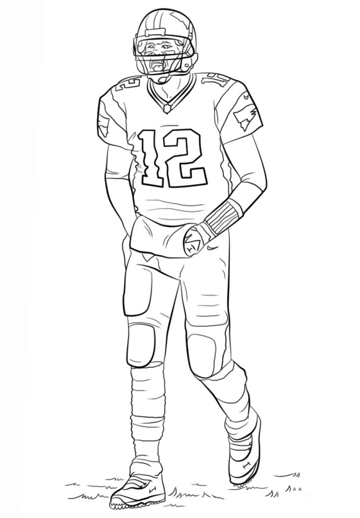nfl coloring pages for kid - photo#34