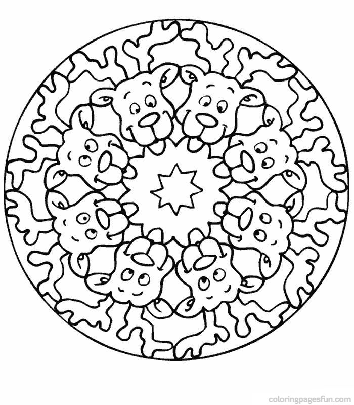 Mandala coloring sheets for kids