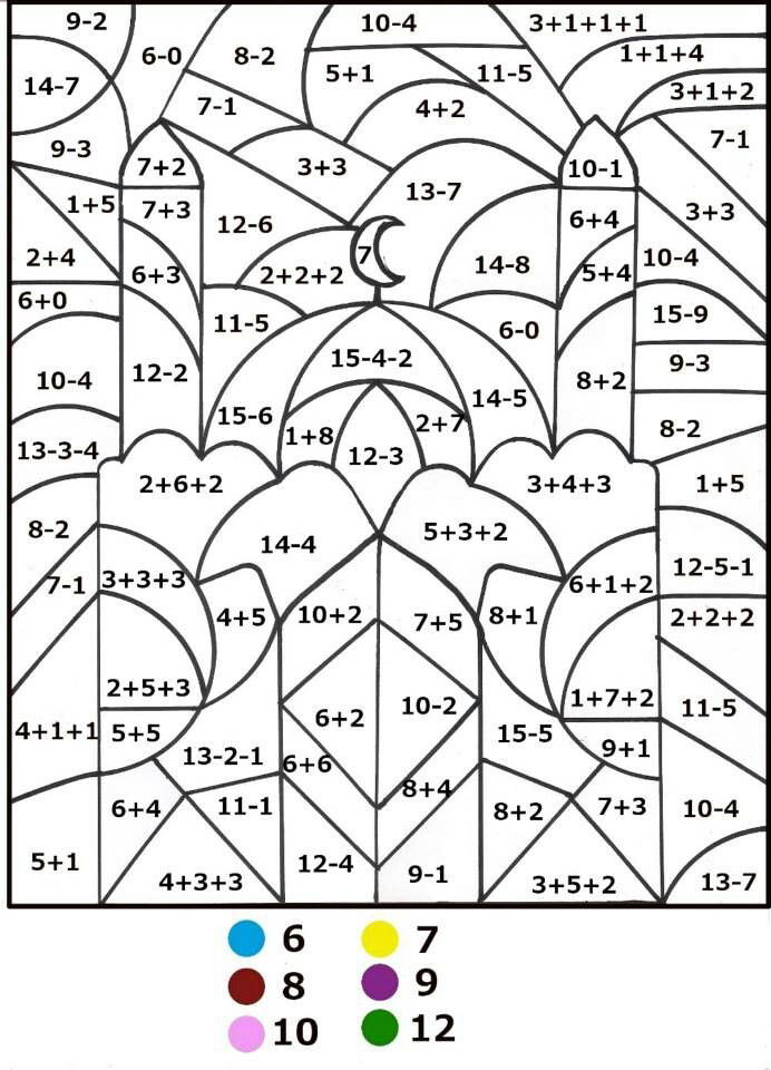 Color by Number Math Coloring Pages