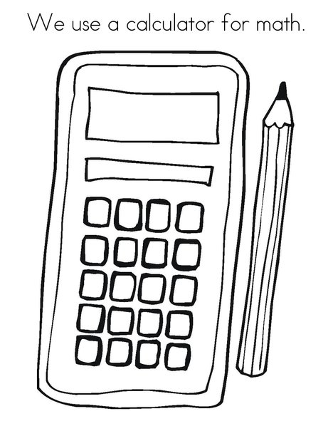 Math Calculator Coloring Pages