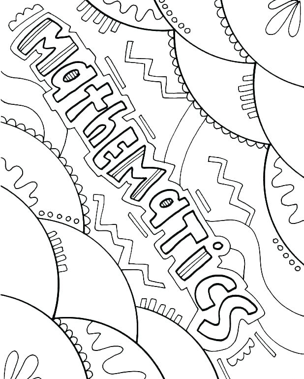 Mathematics Coloring Page