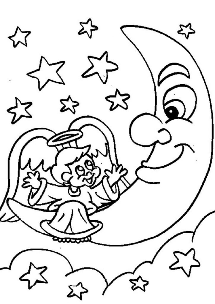 angel-and-moon-coloring-pages