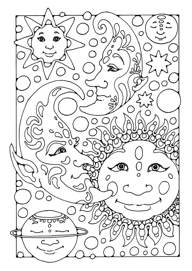 Free Printable Moon Coloring Pages