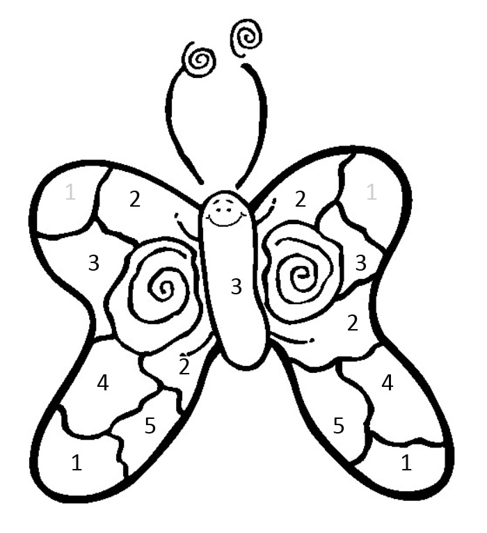 math-coloring-pages-color-by-number-butterfly
