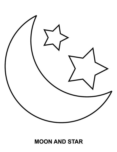 Free printable moon coloring pages for kids best for Half moon coloring pages