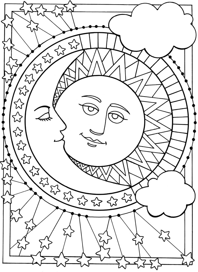 printable june moon coloring pages - photo#24
