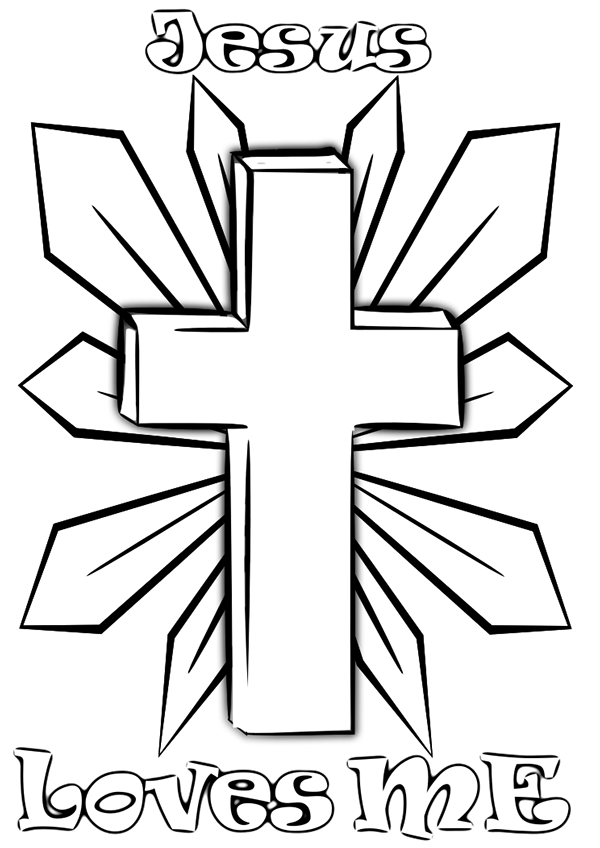 This is a photo of Resource Free Printable Christian Coloring Pages
