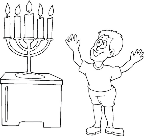 mini coloring pages of hanukkah - photo#13