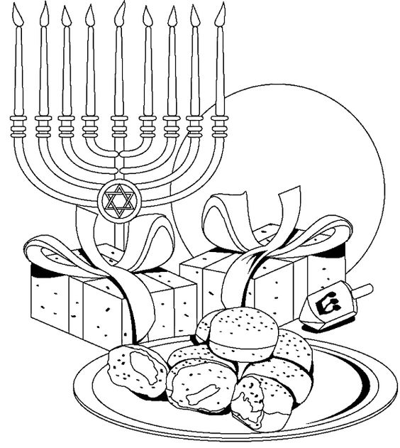 menorah-and-hanukkah-coloring-pages