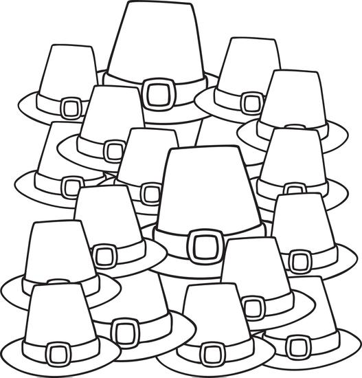 pilgrim-hats-coloring-page