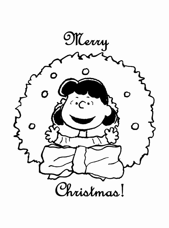 Charlie Brown Christmas Coloring Page Lucy