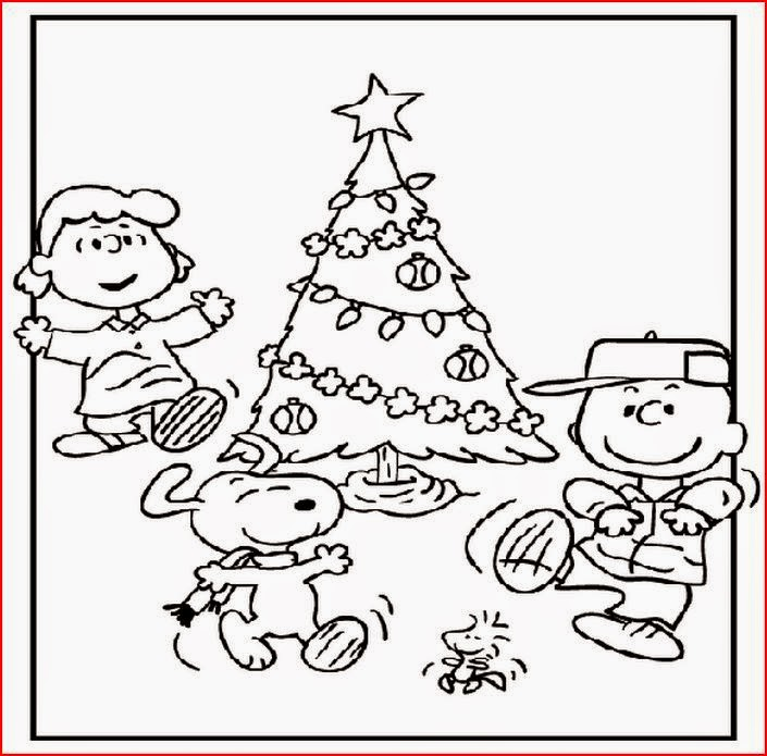 Charlie Brown Christmas Coloring Page image