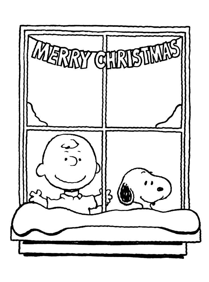 Charlie Brown Christmas Coloring Sheet